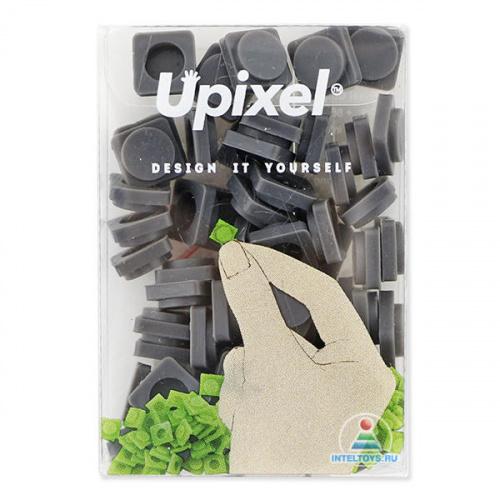 Маленькие пиксельные фишки темно-серые, Upixel (Юпиксель)
