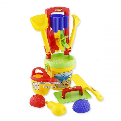 Детский набор для песка №457 (10 предметов), Полесье
