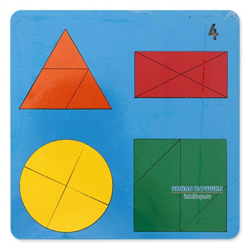 Развивающая игра-головоломка «Веселая геометрия» №4, Оксва