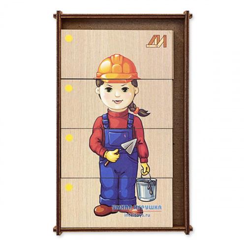 Дидактическая игра «Сложи картинку – Профессии» №2, Деревянные игрушки