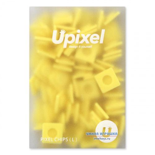Большие пиксельные фишки Upixel (Юпиксель), бананово-желтые