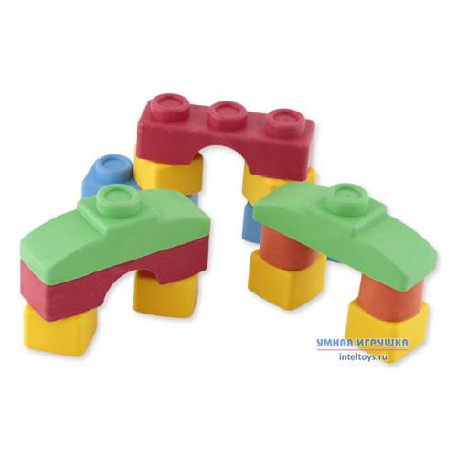 Мягкий детский конструктор «Кнопик», 14 деталей (базовые цвета), Биплант