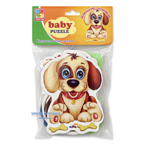 Мягкие пазлы baby puzzle «Домашние любимцы», Vladi Toys (Влади Тойз)