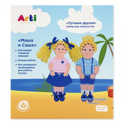 Фигурки для раскрашивания для детей «Маша и Саша», Arti (Арти)