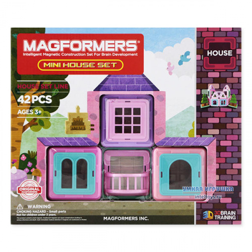 Конструктор Magformers «Mini House Set», 42 детали, Магформерс