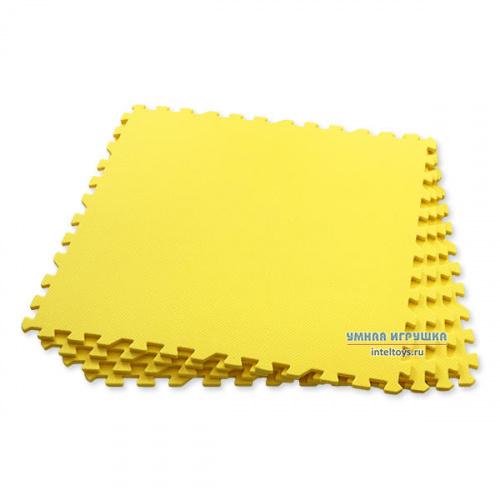 Универсальный детский пазл-пол, Eco Cover (Эко Ковер), 60х60 см (желтый)