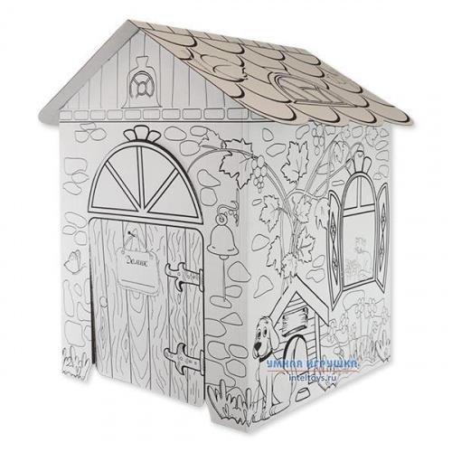 Картонный домик для детей «В гостях у лета», Балуем и Балуемся