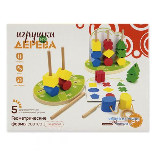 Сортер деревянный «Геометрические фигуры», Мир деревянных игрушек