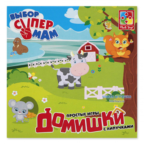 Простые игры с липучками «Домишки», Vladi Toys (Влади Тойз)