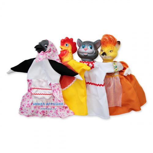 Кукольный театр Весна с ширмой №3 (4 персонажа)