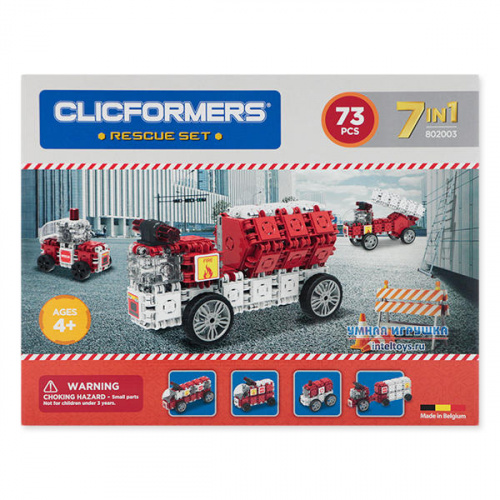Конструктор Кликформерс (Clicformers) «Rescue Set», 73 детали