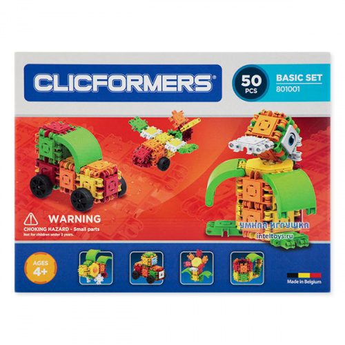 Конструктор Кликформерс (Clicformers) «Basic Set», 50 деталей