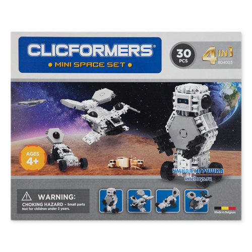 Конструктор Кликформерс (Clicformers) «Mini Space Set», 30 деталей