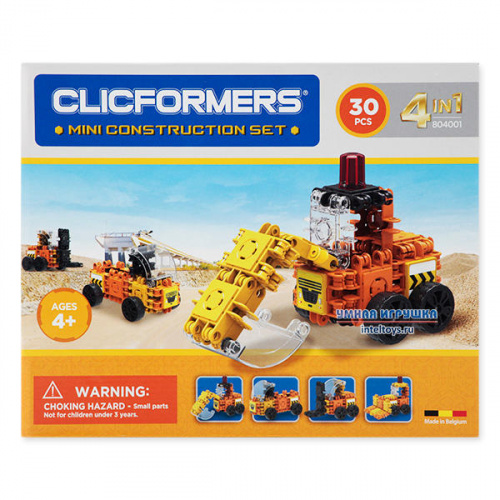 Конструктор Кликформерс (Clicformers) «Mini Construction Set », 30 деталей