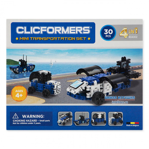 Конструктор Кликформерс (Clicformers) «Mini Transportation Set», 30 деталей