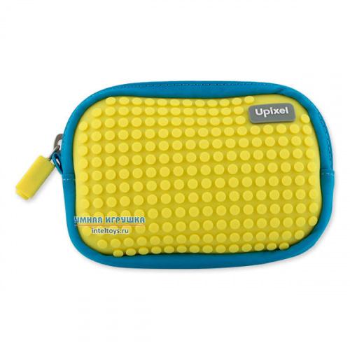 Сине-желтая маленькая пиксельная сумочка, Upixel (Юпиксель)