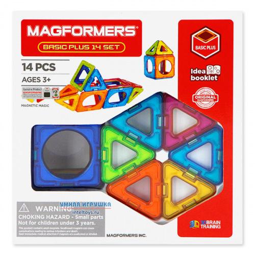 Конструктор Магформерс (Magformers) «Basic Plus 14 Set », 14 деталей