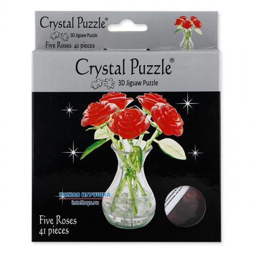 Объемные пазлы Crystal Puzzle (Кристалл Пазл) «Букет в вазе»