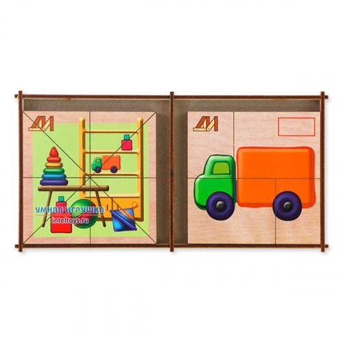 Дидактическая игра «Сложи картинку – Игрушки», Деревянные игрушки