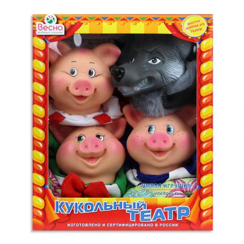 Домашний театр кукол «Три поросенка» №2, Весна (4 персонажа с ширмой)