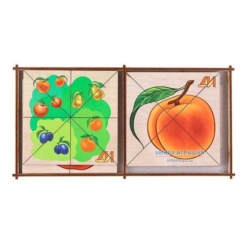 Дидактическая игра «Сложи картинку – Фрукты», Деревянные игрушки