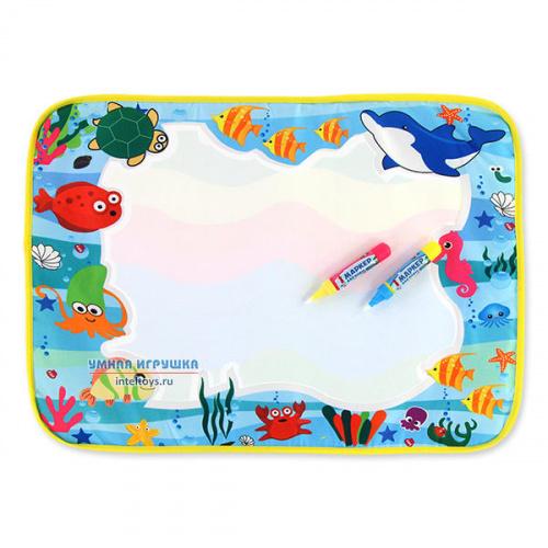 Коврик для рисования водой «Подводный мир», 35х50 см, Bondibon (Бондибон)
