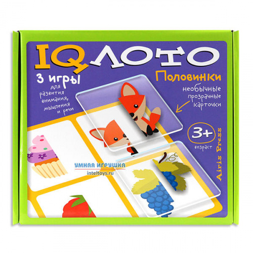 Пластиковое IQ лото «Половинки», Айрис-Пресс