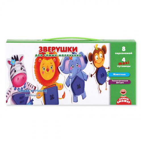 Развивающая игра «Зверушки» для самых маленьких, Vladi Toys (Влади Тойс)