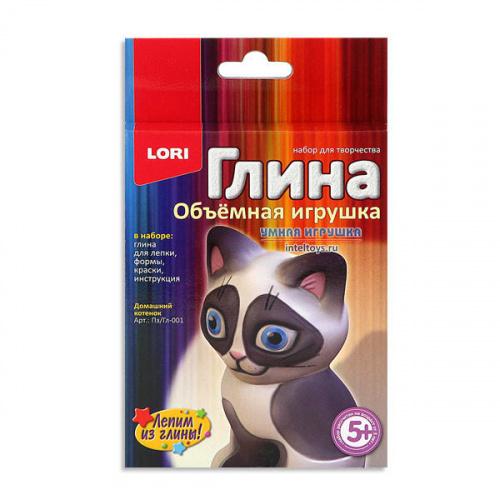 Набор «Глина – Объемная игрушка Домашний котенок», Lori (Лори)
