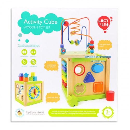 Развивающая игрушка «Универсальный куб», Lucy&Leo