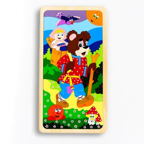 Деревянная мозаика «Колобок, Машенька и Медведь», Крона