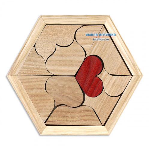 Деревянная головоломка «Валентинка», Планета головоломок