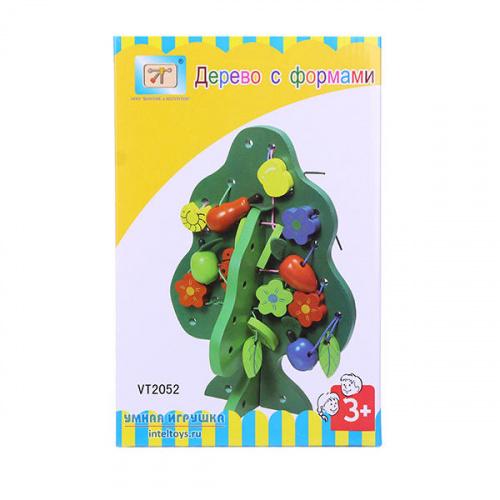 Игрушка-шнуровка «Дерево с формами», Винтик и Шпунтик