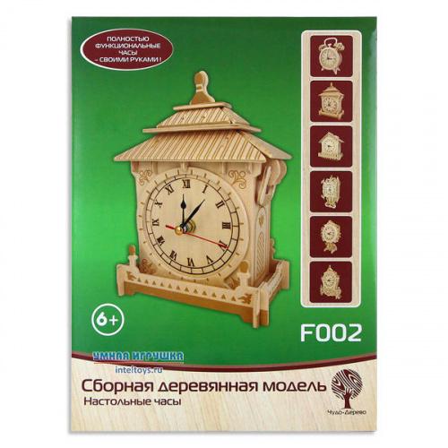 Деревянная сборная модель «Настольные часы», Чудо Дерево