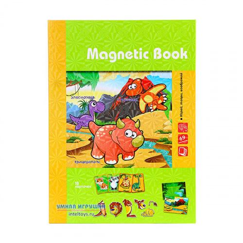 Развивающая игра Magnetic Book «Живность: тогда и теперь», Магнетик Бук