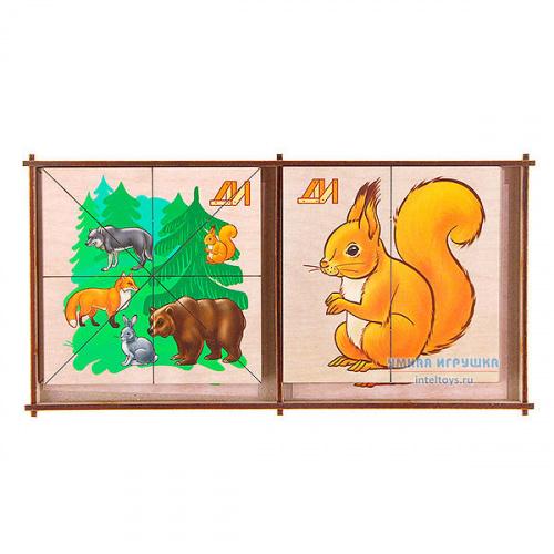 Дидактическая игра «Сложи картинку – Лесные животные», Деревянные игрушки