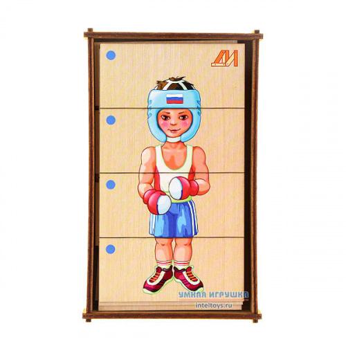 Дидактическая игра «Сложи картинку – Виды спорта. Лето», Деревянные игрушки