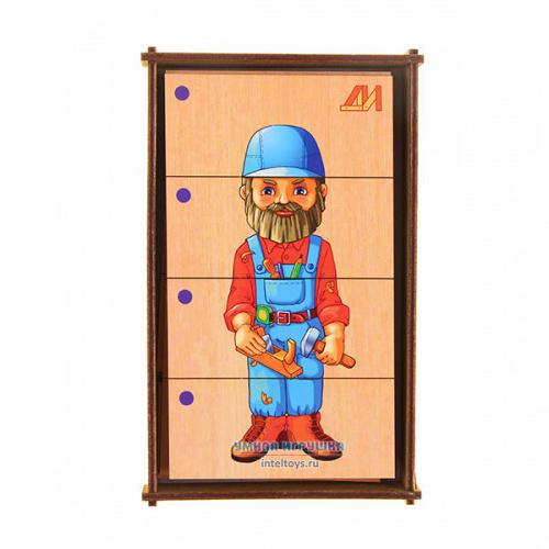 Дидактическая игра «Сложи картинку – Профессии» №3, Деревянные игрушки