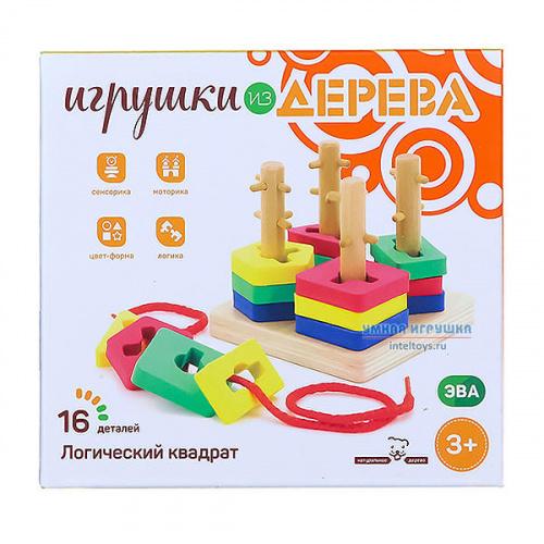 Игрушка «Логический квадрат», Мир деревянных игрушек