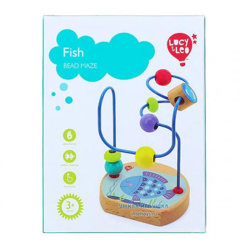 Развивающая игрушка-лабиринт с бусами «Рыба», Lucy&Leo (Люси энд Лео)