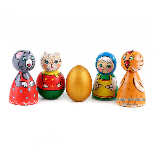 Кукольный театр «Курочка Ряба», Деревянные Игрушки