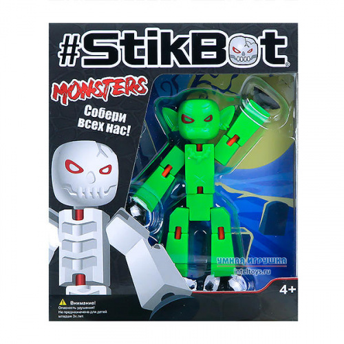Игрушка «Монстр Stikbot – Гоблин», ZING TOYS (Зинг Тойс)