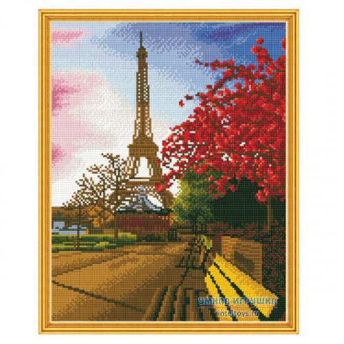 Алмазная мозаика «Эйфелева башня – Самоцветы», 40х50 см, Molly (Молли)