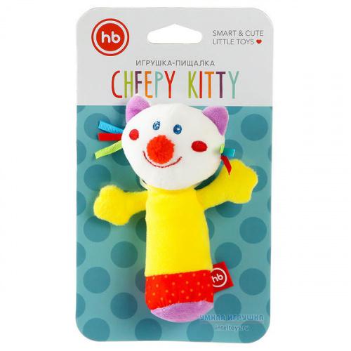 Игрушка с пищалкой «Кот», Happy Baby (Хэппи Бэби)