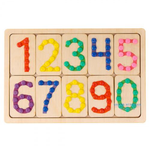 Набор «Тактильные цифры» с повязкой на глаза, Smile DECOR (Смайл Декор)