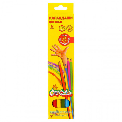 Цветные карандаши Каляка-Маляка, 6 цветов