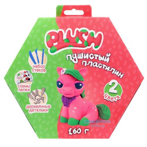 Пушистый пластилин Plush (розовый и зеленый), Плаш