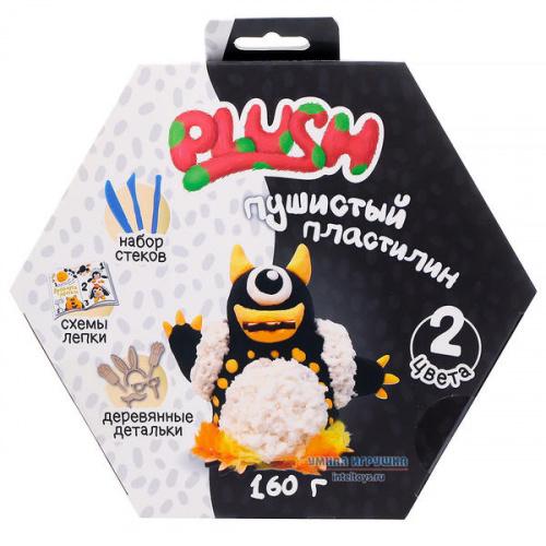 Пушистый пластилин Plush (черный и белый), Плаш
