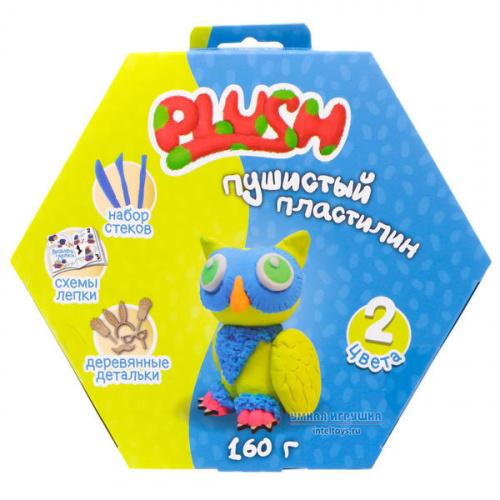 Пушистый пластилин (синий и желтый), Plush (Плаш)