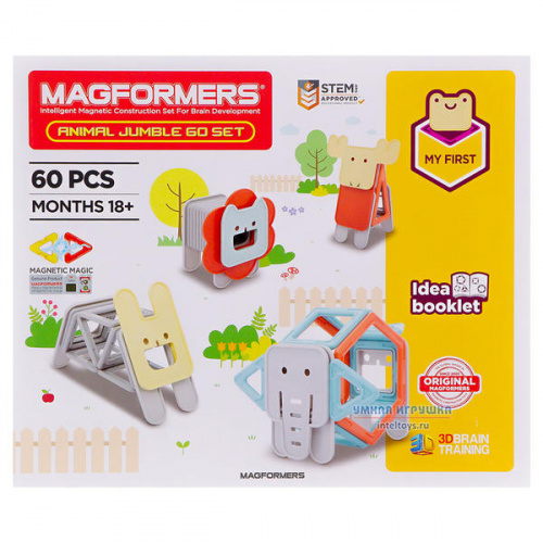 Конструктор Magformers «Animal Jumble Set», Магформерс, 60 деталей